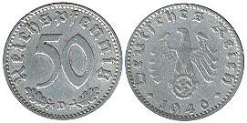 Немецкие монеты 1940 года цена 20 рублей 2005 белоруссия каменная кветка